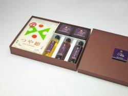 画像1: 【贈答用Fセット】つや姫ともち米麹味噌と富士印刺身醤油と白醤油とお酢の詰合せ